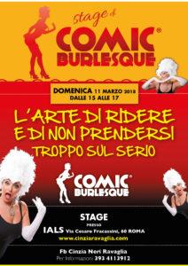 A3 Stage di ComicBurlesque a Roma Marzo 2018
